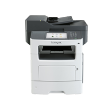 "Lexmark MX611de Monochrome Laser Printer/ 50ppm/print 1200 x 1200 dpi / 50cpm (A4) / scan:600 X 600 ppi (color), 1200 X 600 ppi (black)/ 1GB (RAM)/ Paper feed: 650 sheets/ 7"" color screen/ USB 2.0, Gb LAN, Duplex/ Printing Supplies: 602X, 602H, 602,"