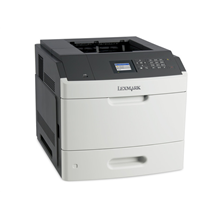 Lexmark MS811dn Monochrome Laser Printer/ 1200 x 1200 dpi/ 63ppm/ 512MB RAM/ 800MHz CPU/ LCD Display/ Paper feed: 650 sheets/ USB 2.0, Gb LAN/ White