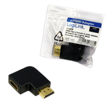 HDMI Adapter, AM to AF in 90 degree flat angled
