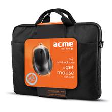 ACME 16M37 Notebook case + MS13 Optical mouse