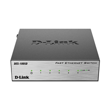 D-LINK DES-1005D, 5-port UTP 10/100Mbps Auto-sensing, Stand-alone, Unmanaged, Palm-top Fast