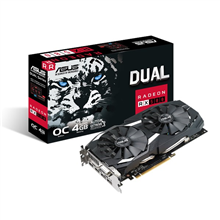 Asus DUAL-RX580-O4G AMD, 4 GB, Radeon RX 580, GDDR5, DVI-D ports quantity 1, HDMI ports quantity 2, PCI Express 3.0, Memory clock speed 7000 MHz, Processor frequency 1380 MHz