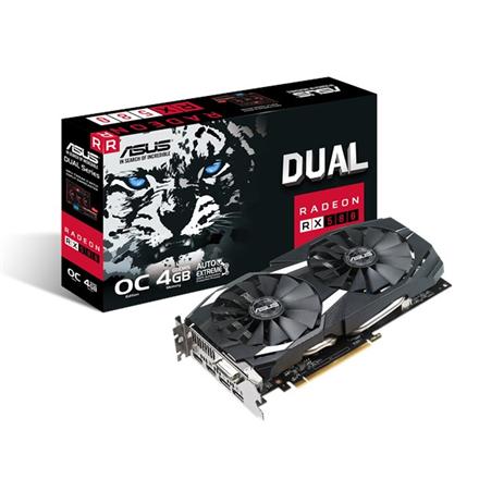 Asus DUAL-RX580-O4G AMD, 4 GB, Radeon RX 580, GDDR5, DVI-D ports quantity 1, HDMI ports quantity 2, PCI Express 3.0, Memory clock speed 7000 MHz, Processor frequency 1380 MHz