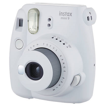 Fujifilm Instax Mini 9 camera + Instax mini glossy (10) Smoky White, 0.6m - ∞