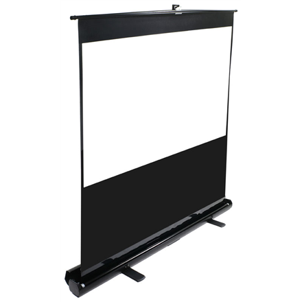 Elite Screens F100NWV ezCinema Portable Screen 100amp;#39;amp;#39; 4:3   Diagonal 254cm, W 203.2cm x H 152.4cm   Black case   MaxWhite material   Gain 1.1   160amp;#176; viewing angle   Telescoping support mechanism   Floor support feet   Built-in carrying handle