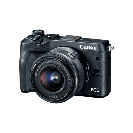 Canon EOS M6 M15-45 S Mirrorless Camera Kit, 24.2 MP, ISO 25600, Display diagonal 3 , Video recording, Wi-Fi, TTL, CMOS, Black, 59.94 29.97 23.976 fps