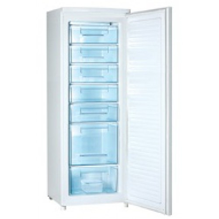 DAEWOO Freezer FF-311VPL Upright, Height 170 cm, Total net capacity 245 L, A+, Freezer number of shelves baskets 7, White, Free standing