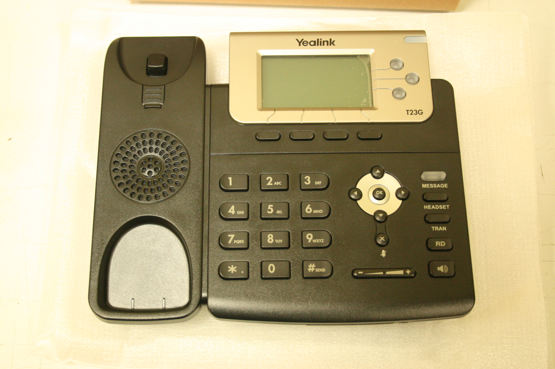 SALE OUT. Yealink SIP-T23G IP Phone Yealink SIP-T23G IP Phone, DEMO, 132x64-pixel graphical LCD with backlight, 3 SIP accounts