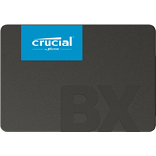 "Crucial BX500 240 GB, SSD form factor 2.5"", SSD interface SATA, Write speed 500 MB/s, Read"