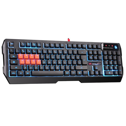 A4Tech Bloody light strike 8-infrared swich gaming keyboard whit backlit, B188 USB (Black) A4Tech Wired, Keyboard layout US