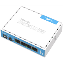 MikroTik RB941-2nD hAP Lite Classic Access Point 10/100 Mbit/s, 2.4, Wi-Fi standards 802.11b/g/n,