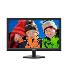 "PHILIPS 223V5LHSB2 21.5"" W-LED/16:9/1920x1080/200cdm2/5ms/H-90,V-65/VGA,HDMI/Tilt,Vesa/Black"