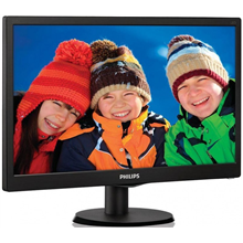 "PHILIPS 223V5LSB 21.5"" LED/16:9/1920x1080/250cdm2/5ms/H-170, V-160/10M:1/VGA,DVI-D/Tilt,Vesa/Black"