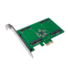 Logilink PC0078 PCI-Express Card, 2x mSATA SSD
