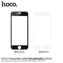 hoco. Kasa series set 10 pcs ( V9 ) Screen protector, Apple, iPhone 6/6S, Tempered glass, White