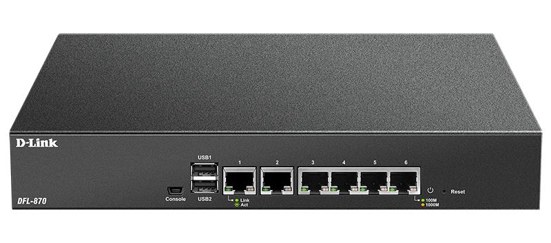 D-Link DFL-870 NetDefend UTM Firewall Ethernet LAN (RJ-45) ports 6