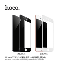 hoco. Fast attach 3D full-screen (A8) Screen protector, Apple, iPhone 7/8, Tempered glass, White