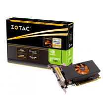ZOTAC GeForce GT730/ PCI-E2.0 / DDR3 2GB / 128-bit / Core 700 MHz / Memo 1800 MHz / 2xDVI /mini HDMI / VGA With included adapter