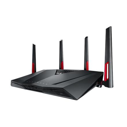 Asus Router RT-AC88U 10/100/1000 Mbit/s, Ethernet LAN (RJ-45) ports 8, 2.4GHz/5GHz, Wi-Fi standards 802.11ac,  1000+2167 Mbit/s, Antenna type External, Antennas quantity 4, USB ports quantity 2