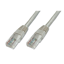 Patch cable  CAT5e UTP, grey, 1m