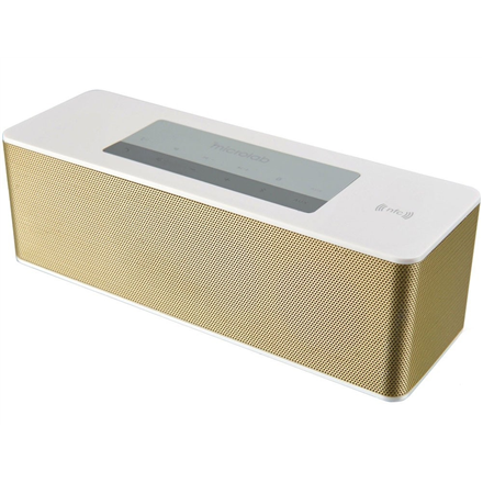 Microlab MD-215 Portable Bluetooth Speaker  Gold  7W RMS  NFC  Two Power Modes: USB or Rechargeable Battery Powered  3.5mm Line-In Jack, Built-in Microphone