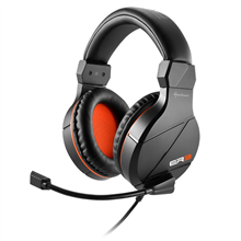 Sharkoon Gaming Headset, Stereo Jack, Rush ER3, Black, Built-in microphone