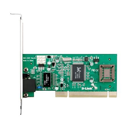 D-LINK DGE-530T, Managed Gigabit Ethernet NIC, 10 100 1000Mbps Managed Gigabit Ethernet UTP 32-bit PCI 2.2 (Bus Master) NIC, PnP, VLAN, 802.1p, Flow control, Jumbo Frame 7k, Windows XP 32 64 bit, Windows Vista 32  64bit, Windows 7 32  64bit, Windows 8 32