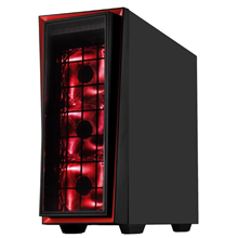 SilverStone Red Line 06 Side window, USB 3.0 x2, USB 2.0 x 2, Mic x1, Spk x1, Black, ATX, Power supply included No