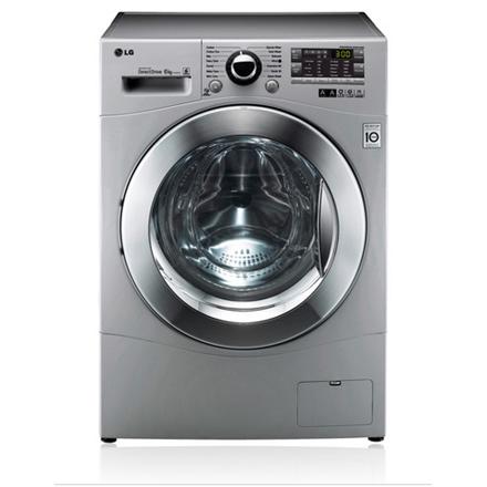 LG F12A8NDA5 Washing Machine Intelligent Washing System Depth 44cm(Slim) LED Display 6KG 1200RPM 9 Programs 8 Special options EC A+++ Silver