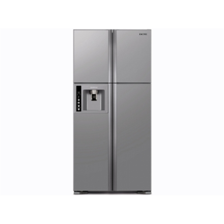 Hitachi R-W660PRU3 Refrigerator  4 door Side by side  NoFrost  H1835mm  Fridge 396L  Freezer 144L  Water Dispensor  LED Lighting  EC A+  Inox