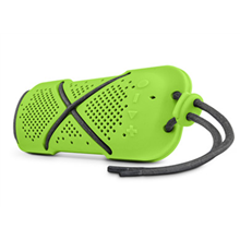Microlab D22 Portable Bluetooth Speakers/ 7W RMS (3.5W + 3.5W) RMS/ Bluetooth 4.0/ FM-Radio/ Waterproof, Shockproof, Dust-proof, Silicone Shell/ MicroSD Card Slot/ Built-in Microphone/ USB Rechargeable 1200mA Battery/ Green Microlab 2.0, Yes, 7 W