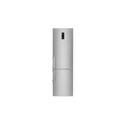 LG Refrigerator GBB60NSYXE Free standing, Combi, Height 201 cm, A+++, No Frost system, Fridge net capacity 250 L, Freezer net capacity 93 L, Display, 37 dB, Stainless steel