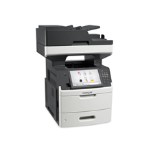 "Lexmark MX711dhe Multifunction Mono Laser Printer/ Print, copy, scan, fax/ 1200 x 1200 dpi/ 70 ppm/ 800 MHz/ 1024 MB/ 650-Sheet Input/ Integrated Duplex/ 10,2"" Touch Screen/Ethernet 10/100/100/ USB 2.0/ White/ CZ GR HU PL ES PT EA"