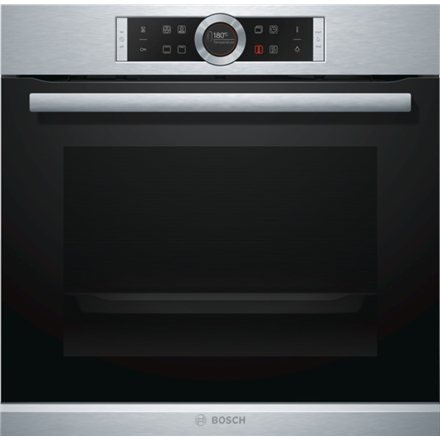 Bosch HBG633CS1S Multifunction Oven, 71L, 10 functions, TFT display control, EC A+, EcoClean Direct, 4D Hot Air, Roast thermometer, Black-Stainless steel
