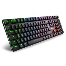 Sharkoon PureWriter RGB Red Switches, US, Wired, RGB LED light Y, USB, Gaming Keyboard, Black