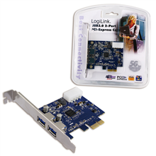 Logilink PCI-Express card, 2 x USB 3.0, NEC chipset