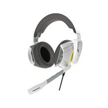 Gamdias Grey/White, Built-in microphone, 3.5 mm/USB, Stereo lighting gaming headset, Hephaestus E1