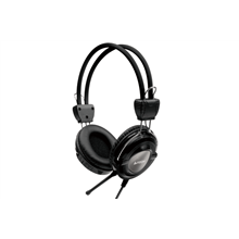 A4Tech headset HS-19-1 Stereo, with microphone (Iron Grey), 40 mm driver unit, 20Hz-20kHz, 32 Ohm, 102 dB, -50 dB, Cable length: 2 m