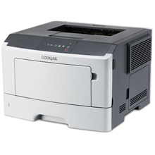 Lexmark MS310dn Monochrome Laser Printer/ 1200 x 1200 dpi/ 35 ppm/ 800 MHz/ 128 MB/ 300-Sheet Input/ Integrated Duplex/ LCD Display/ Ethernet 10/100/100/ USB 2.0/ White