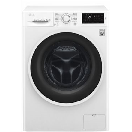 LG Washing machine F2J6WN0W Front loading, Washing capacity 6.5 kg, 1200 RPM, Direct drive, A+++, Depth 44 cm, Width 60 cm, White, Display, LED, NFC,